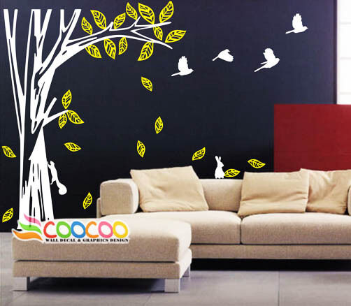 Wall decor decal sticker removable large tree trunk 73 ebay for Tree trunk wall art