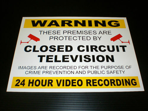 warning closed circuit television 3mm foamex a3 sign. Black Bedroom Furniture Sets. Home Design Ideas
