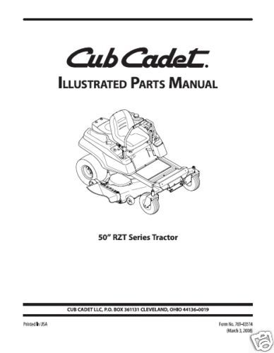 Cub Cadet Rzt 50 Parts Diagram Manual Guide