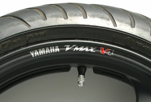 8 x v max v4 wheel rim stickers decals choice of colours. Black Bedroom Furniture Sets. Home Design Ideas