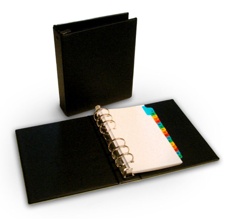 Small 6 Ring Binder With 1 Inch Ring Capacity