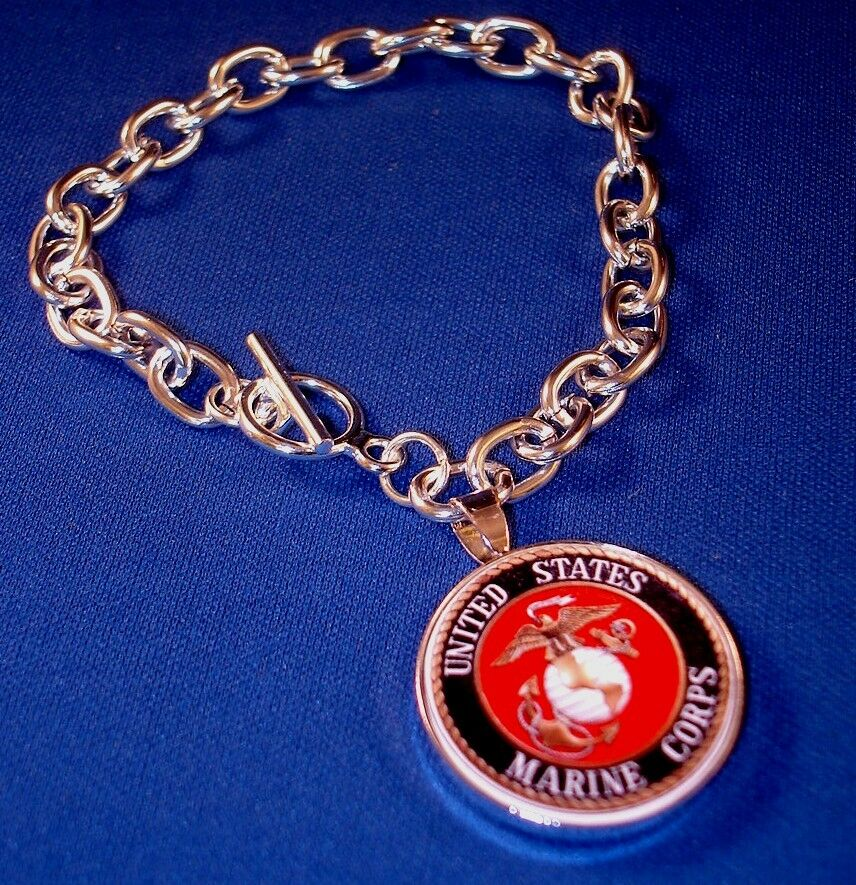 Picture Charms For Bracelets: Marine Corp Charm Bracelet