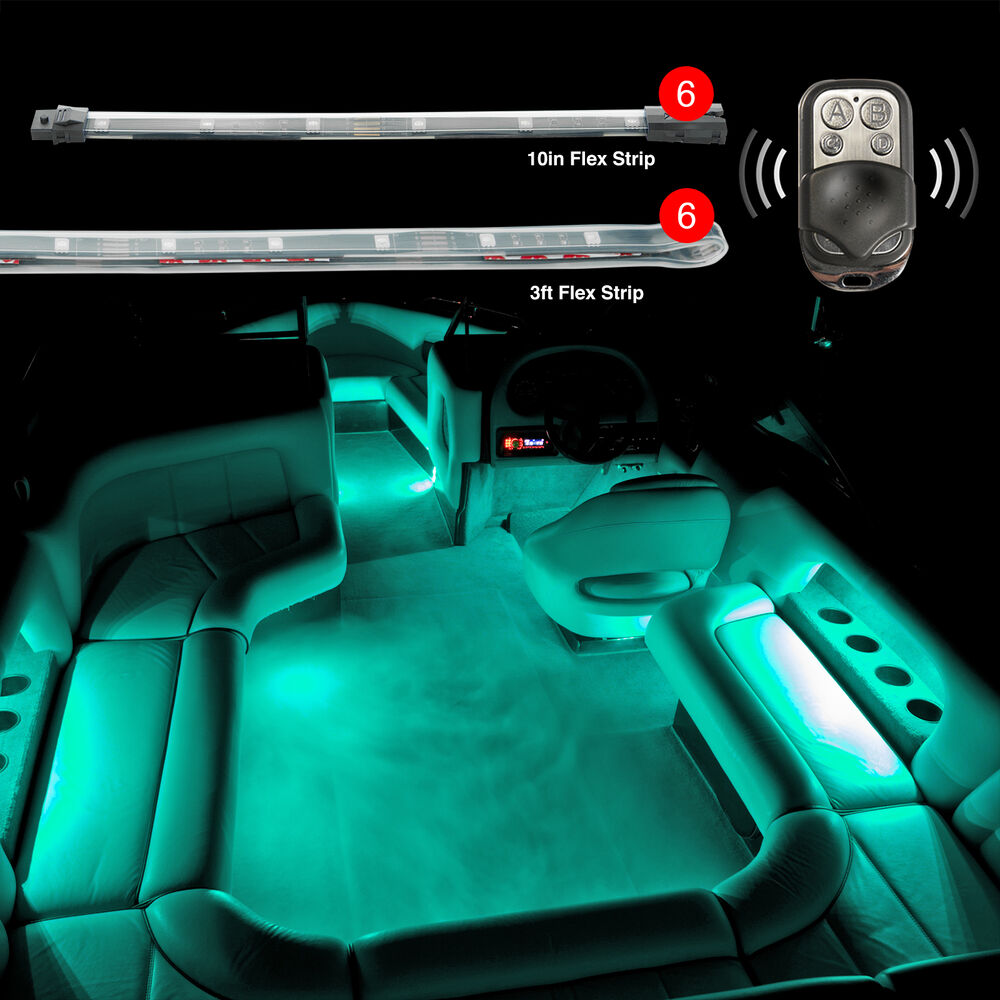 "6pc Car Interior Neon Underglow Accent Light Kit: ULTIMATE 6PC 36"" STRIP + 6PC 10"" STRIP LED ACCENT NEON"