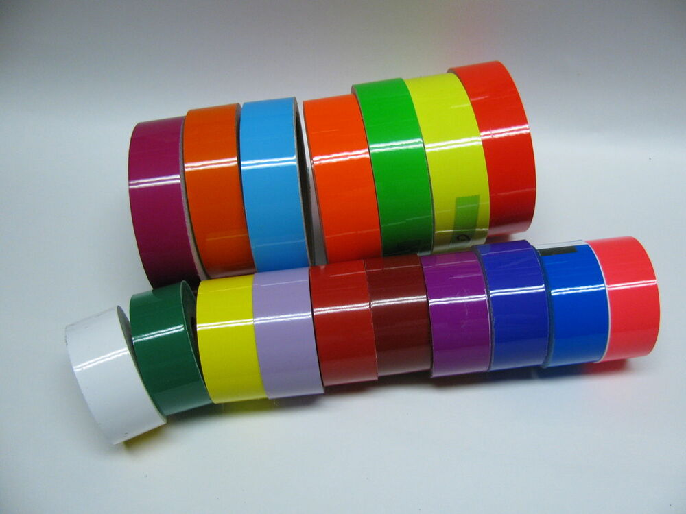 Any 6 Colors of Colored Plastic Tape, 1 Inch x 25 feet ...