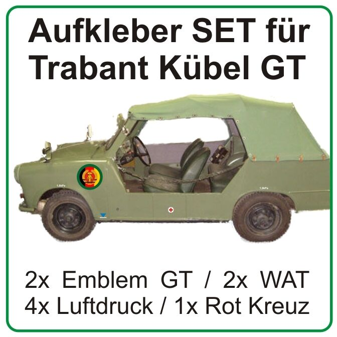 aufkleber set f r trabant k bel trabi grenztruppen ddr ebay. Black Bedroom Furniture Sets. Home Design Ideas