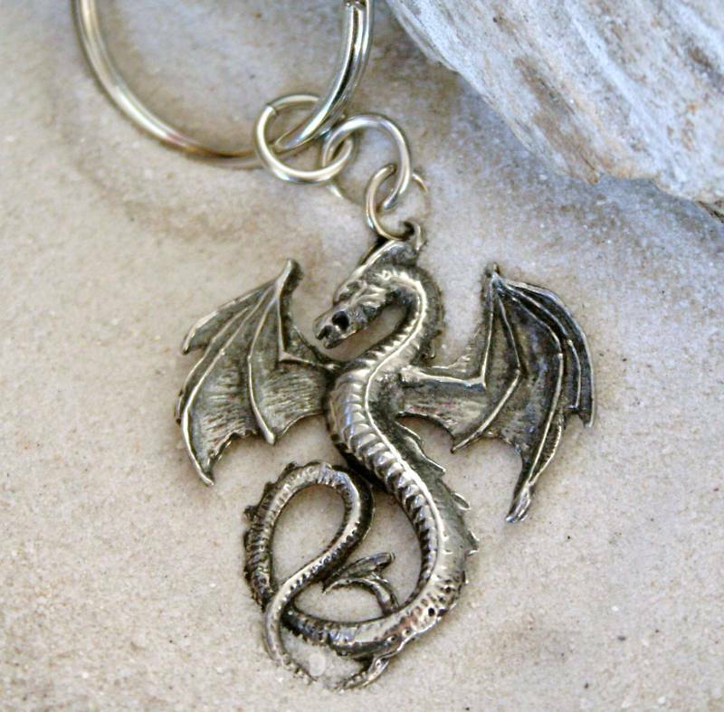 GOTHIC FANTASY DRAGON Pewter KEYCHAIN Key Ring | eBay