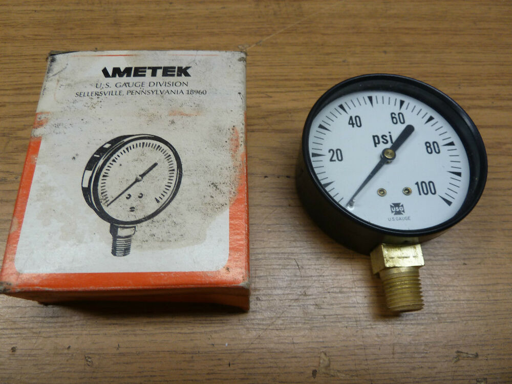 NEW! AMETEK 100 PSI GAUGE, by U.S. GAUGE DIVISION | eBay