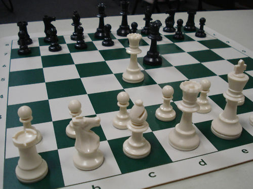 New tournament chess set basic plastic pieces board ebay - Simple chess set ...