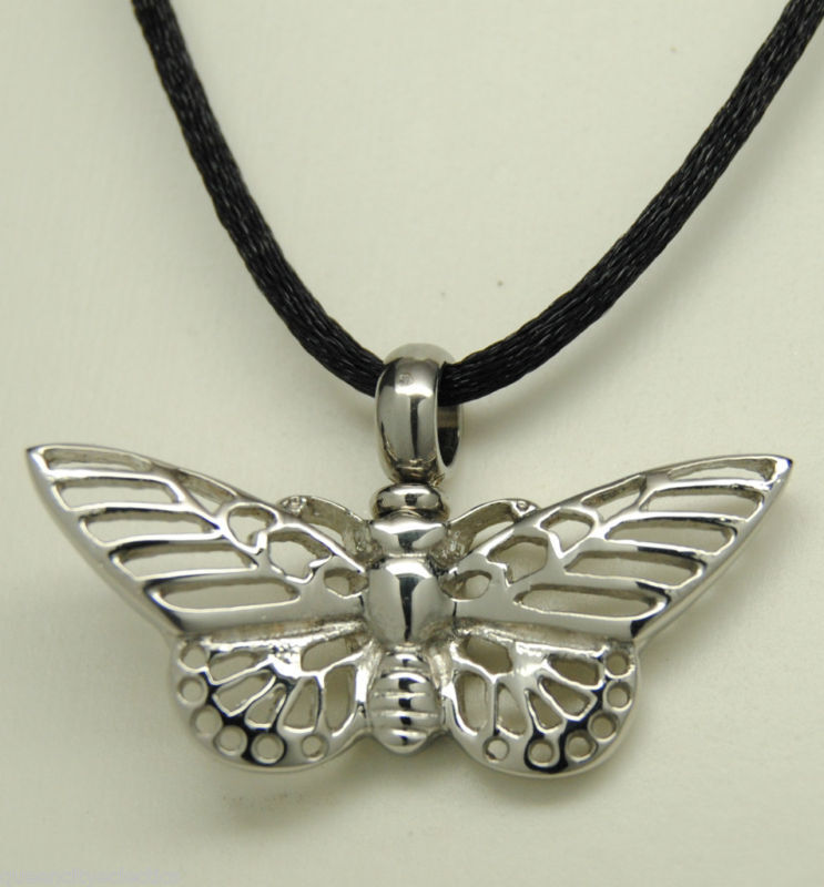butterfly cremation jewelry urn necklace memorial keepsake