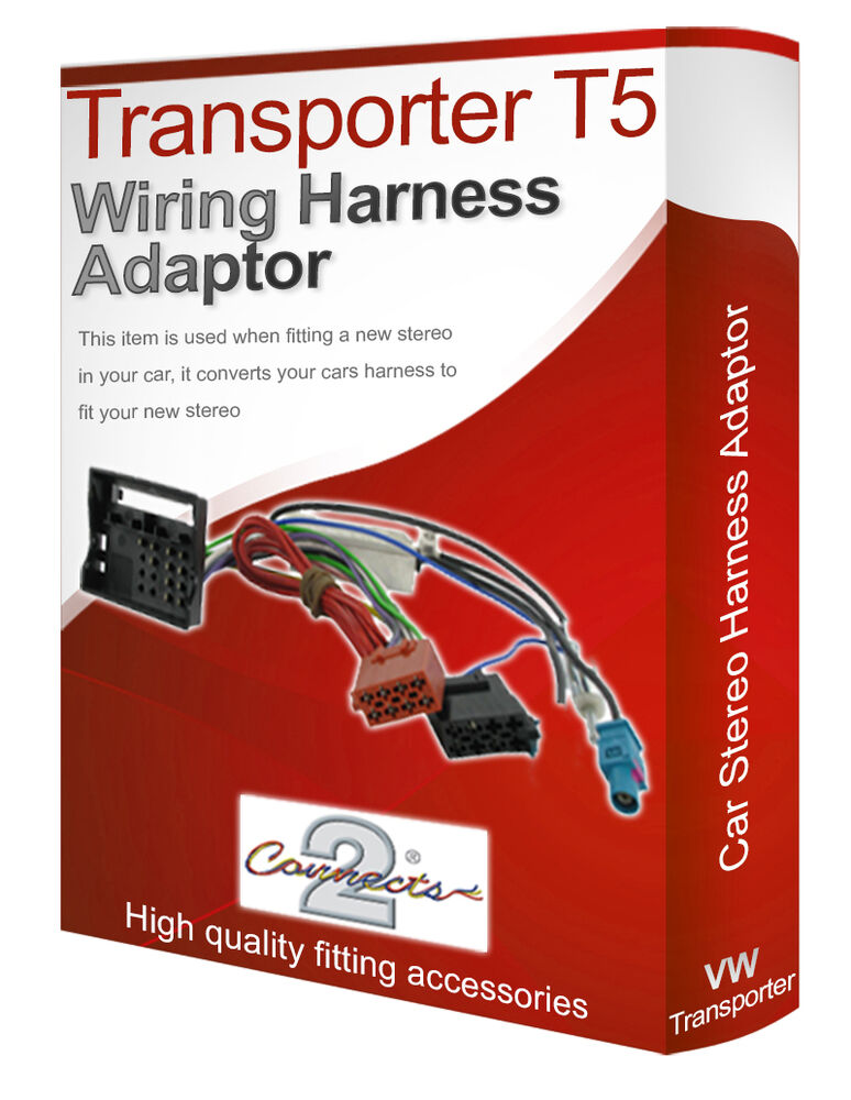 Vw Transporter T5 Cd Radio Stereo Wiring Harness Adapter