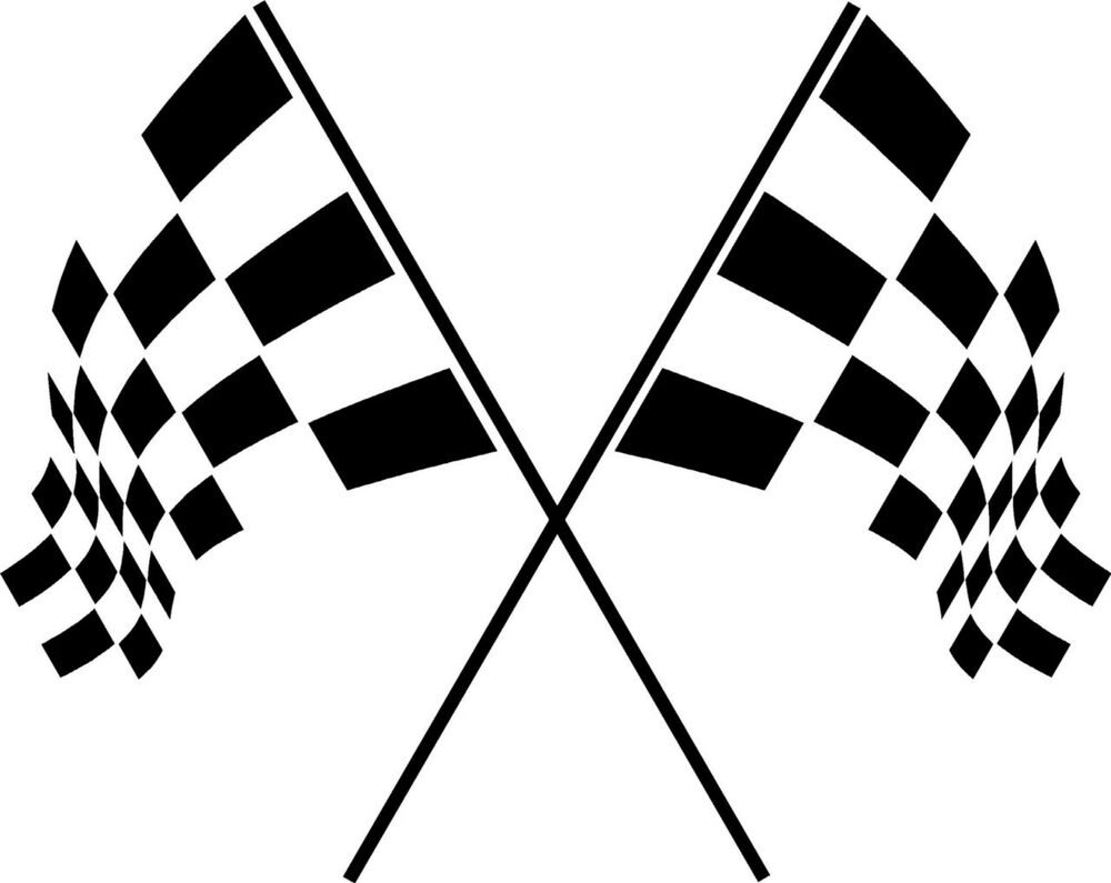 Checkered Racing Flags Vinyl Wall Decal Sticker Art Room ...