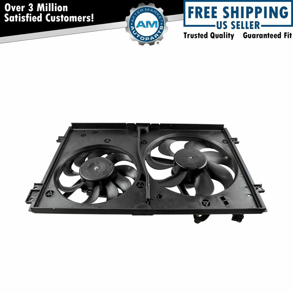 Radiator Cooling Fans : Dual radiator cooling fans motors new for audi vw ebay