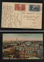 France post card to US  with semi postal stamps
