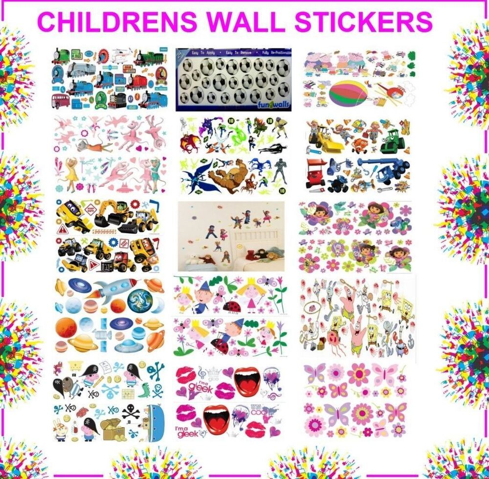 disney childrens kids bedroom self adhesive wall stickers