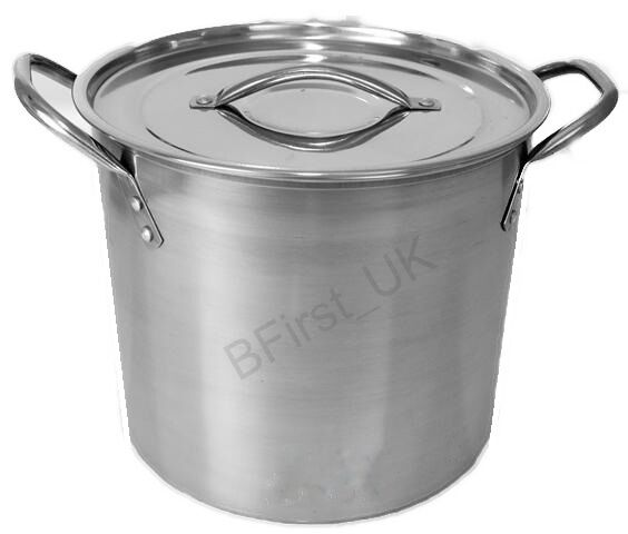 deep stainless steel stock soup pot pan saucepan cooking stew catering casserole ebay. Black Bedroom Furniture Sets. Home Design Ideas