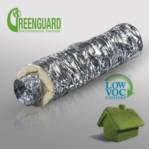Insulated Vent Duct : Acoustic flexible sound insulated ventilation ducting pipe