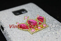 Super Bling Crown Samsung Galaxy S 2 II i9100 Plastic Hard Back Skin Cover Case