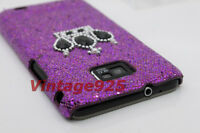 Purple Bling Crown Samsung Galaxy S 2 II i9100 Plastic Skin Phone Cover Case