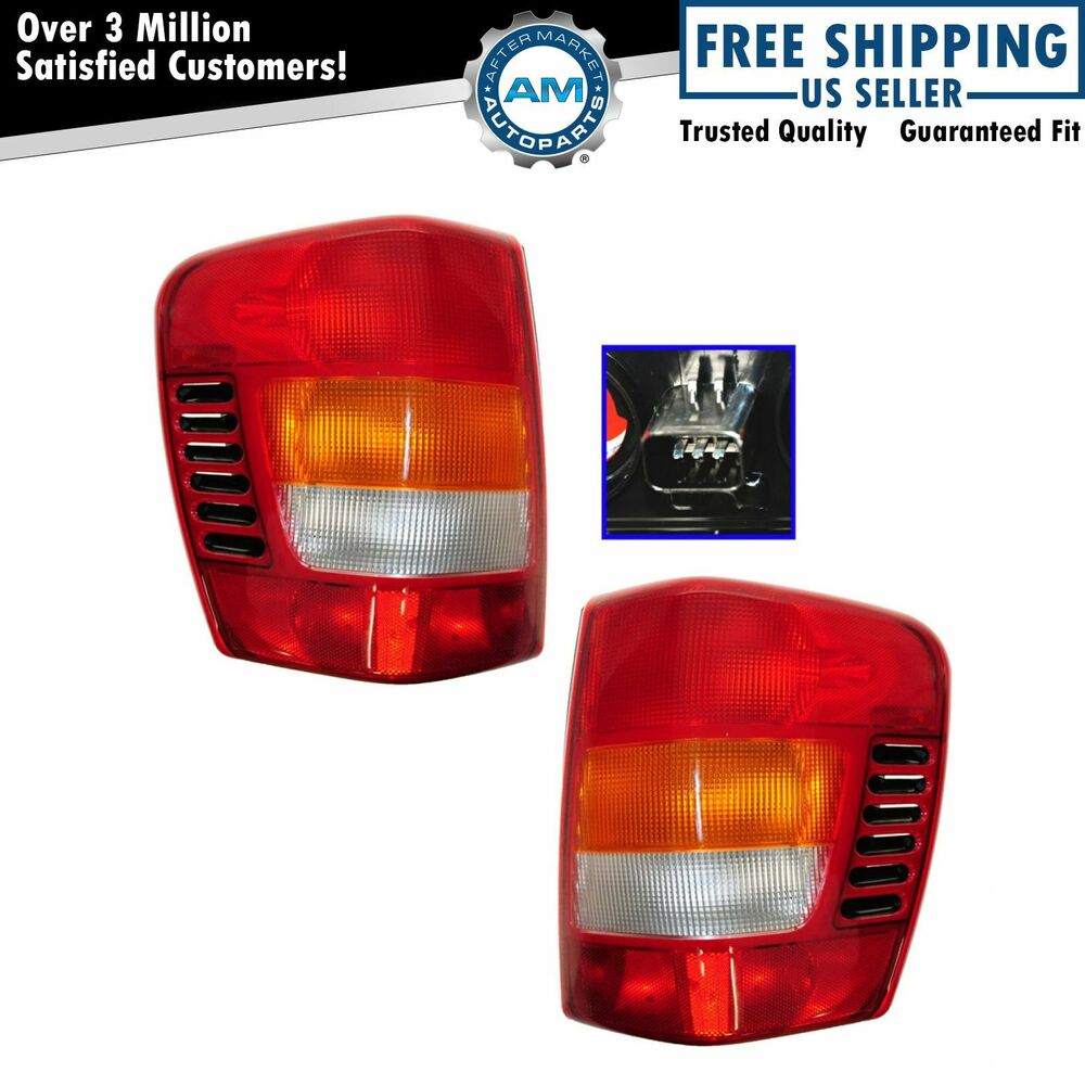 Taillights Taillamps Brake Lights Left U0026 Right Pair Set For 99 03 Grand  Cherokee.