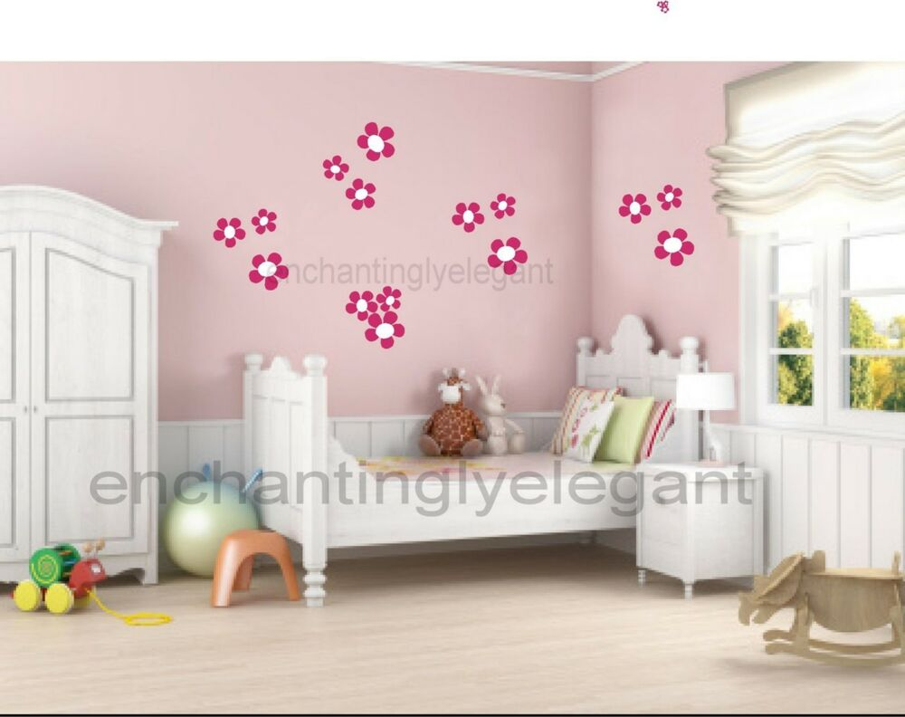 Flowers Vinyl Wall Decal Stickers Daisy Nursery Girl Room Decor Ebay