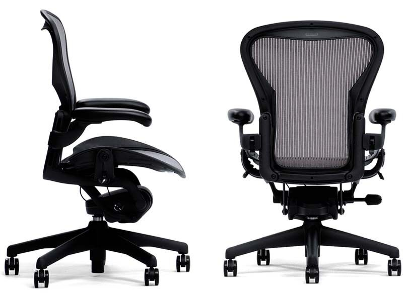 new herman miller aeron ergonomic computer home office. Black Bedroom Furniture Sets. Home Design Ideas