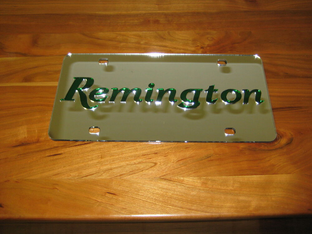 remington license plate laser cut 3d inlaid tag ebay. Black Bedroom Furniture Sets. Home Design Ideas