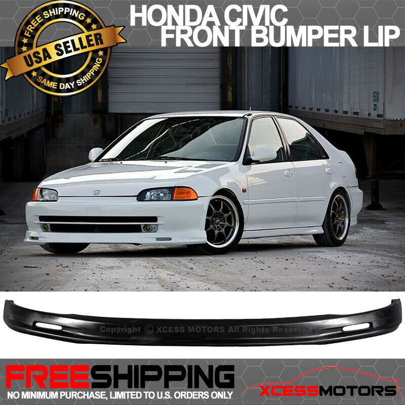 92 95 honda civic 4dr sedan poly urethane front bumper lip spoiler ebay. Black Bedroom Furniture Sets. Home Design Ideas