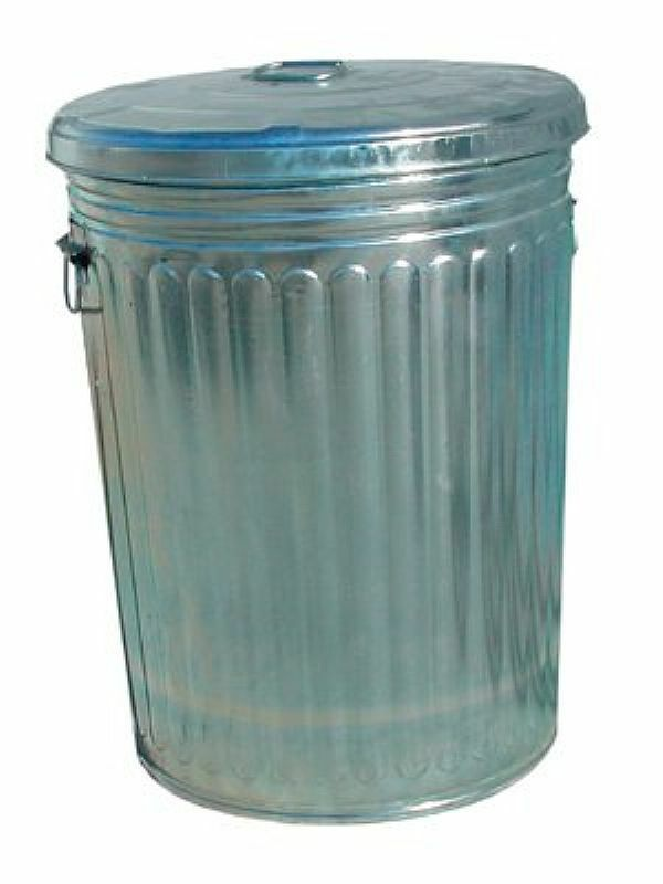 20 gallon galvanized trash can with lid ebay. Black Bedroom Furniture Sets. Home Design Ideas
