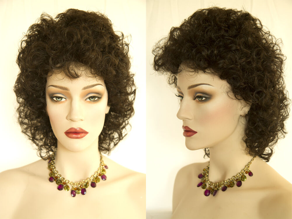 Short Curly Shag Style Blonde Brunette Red Wigs Available