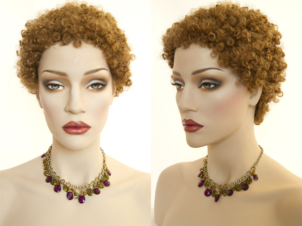 Small Tight Ringlets Short Afro Style Brunette Red Curly
