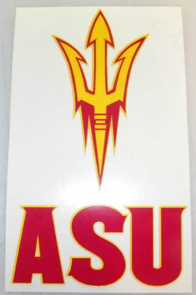 Arizona State Sun Devils Asu Fork Decal Sticker Ebay
