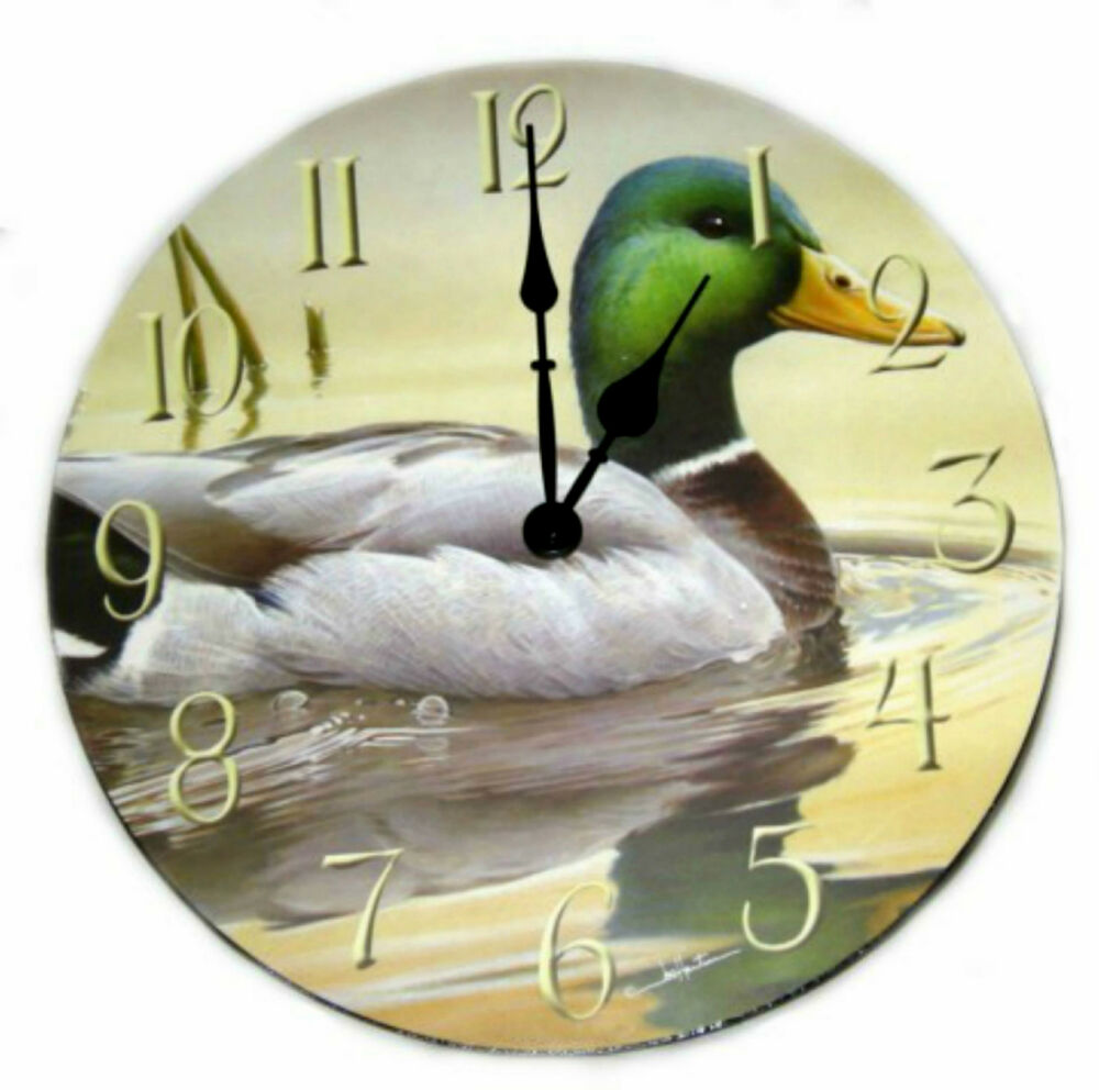 Wooden Wildlife Clocks By The Hautmans Deer Mallard