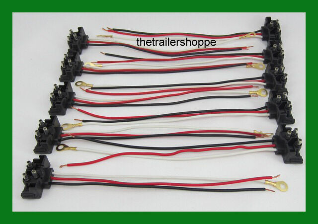 10 pc replacement plug 3 wire pigtail harness connector. Black Bedroom Furniture Sets. Home Design Ideas