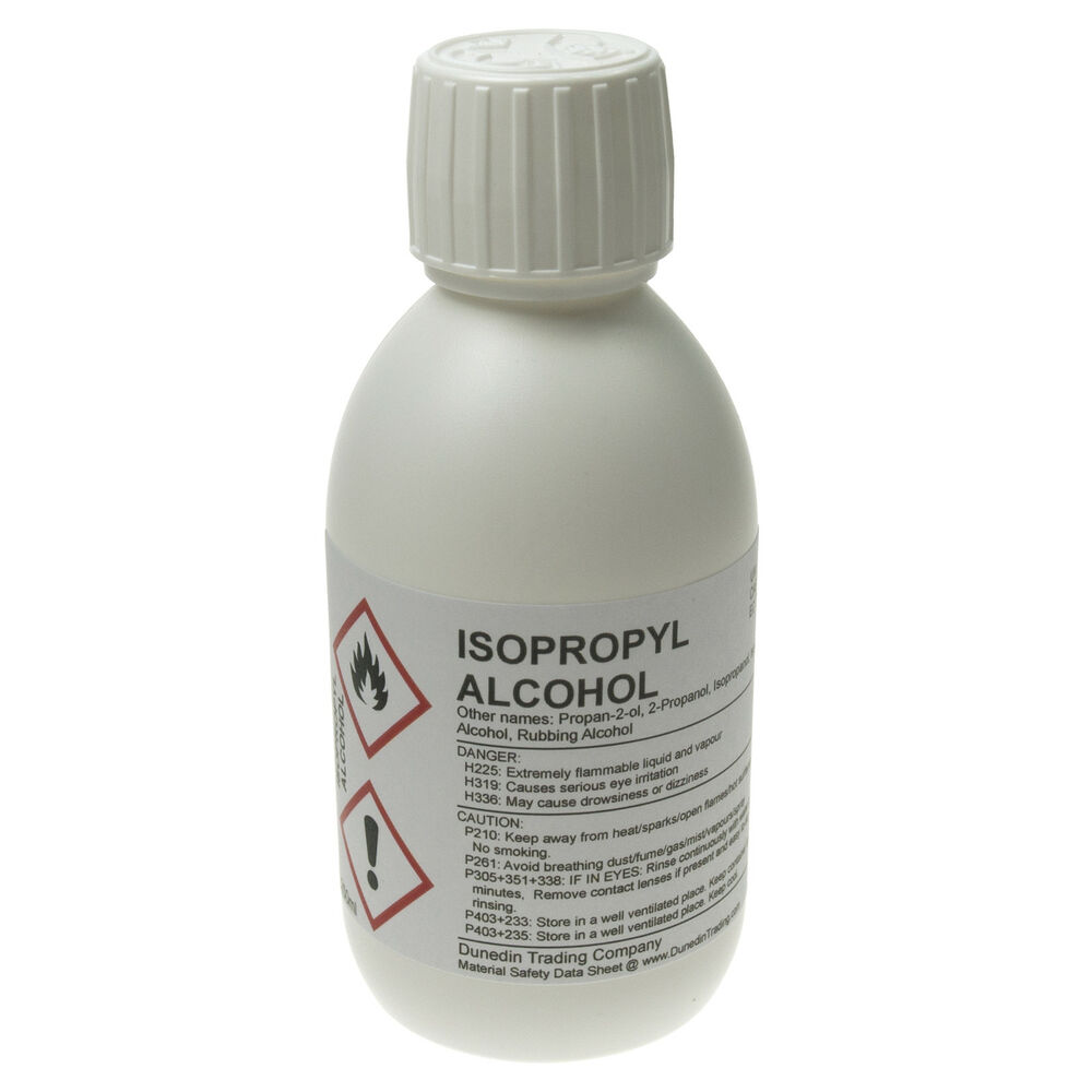 isopropanol ipa isopropyl alcohol 99 9 pure 250ml with. Black Bedroom Furniture Sets. Home Design Ideas
