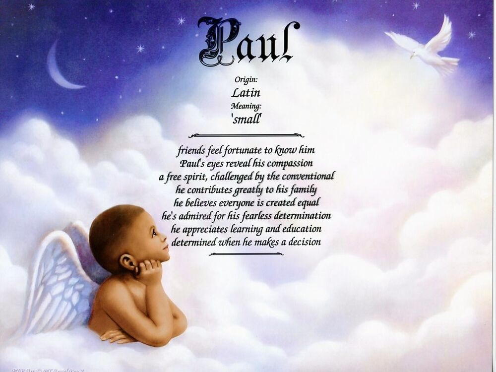 Angel boy 2 name meaning print personalized nursery decor for Decor meaning