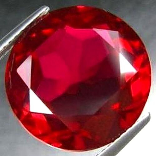 aaa rated round faceted bright red lab created ruby size. Black Bedroom Furniture Sets. Home Design Ideas