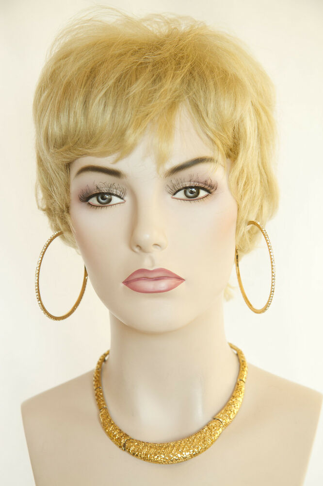 Champagne Blonde Blonde Short Human Hair Straight Wigs Ebay