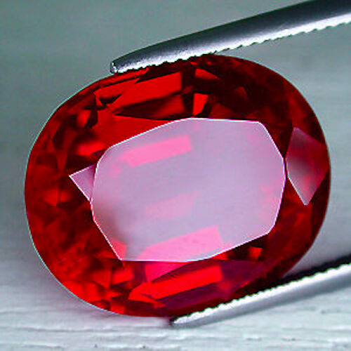 aaa rated oval faceted bright red lab created ruby size. Black Bedroom Furniture Sets. Home Design Ideas