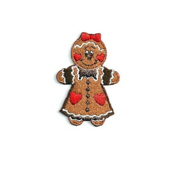 Gingerbread Woman - Cookie - Heart - Embroidered Iron On ...