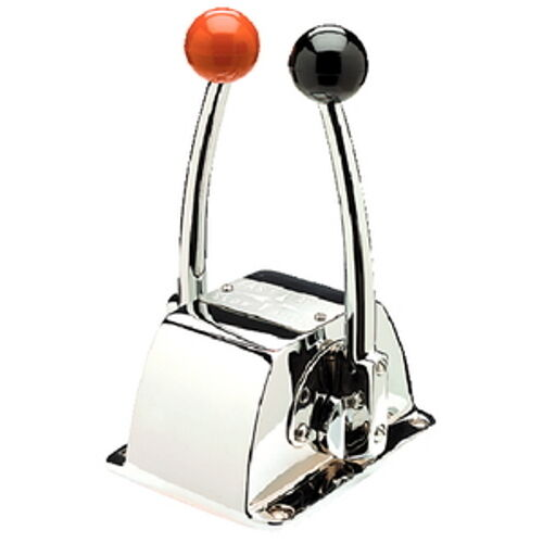 Marine Throttle Lever Control Single : Single engine binnacle mount twin lever shift and throttle