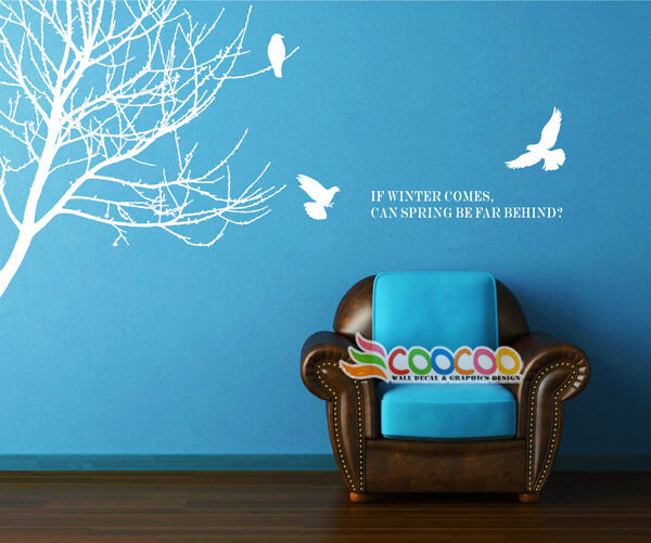 Wall Decor Decal Sticker Mural Removable Winter Branches
