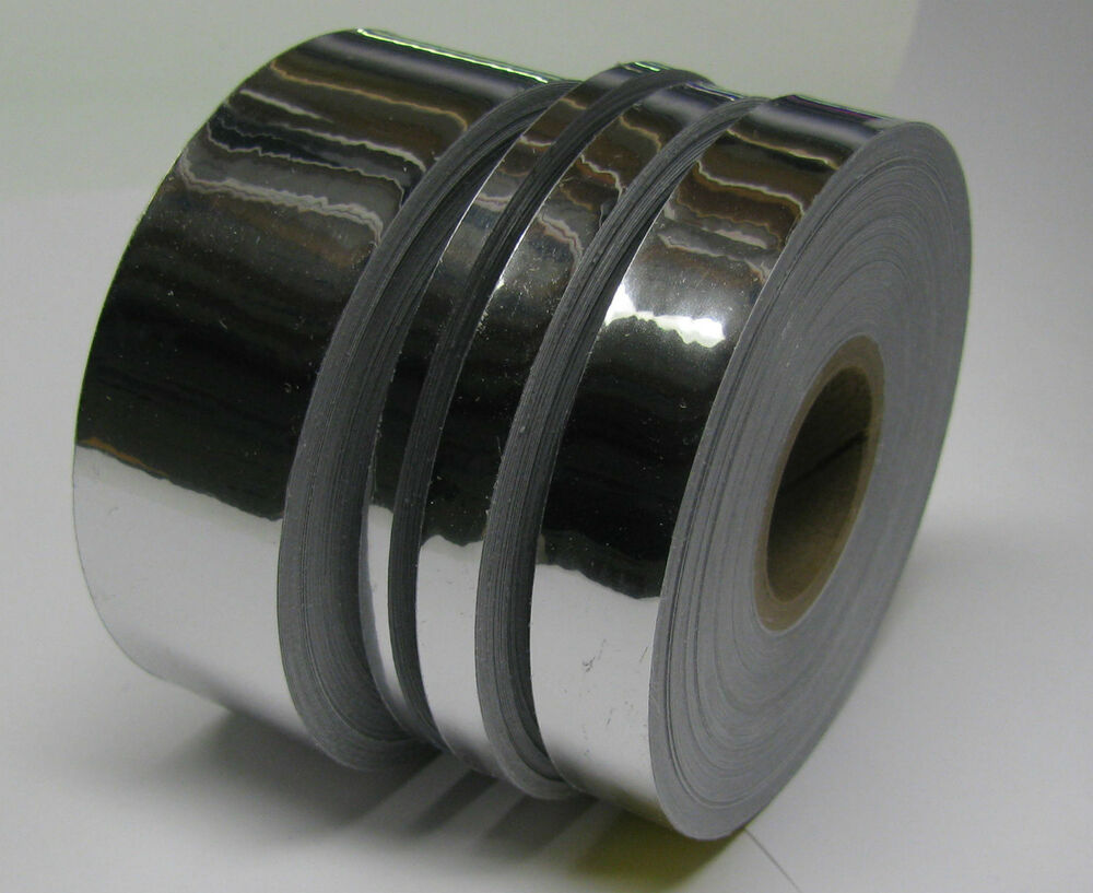 Chrome Tape Set 1 8 Quot 1 4 Quot 1 2 Quot And 1 Inch X 50 Ft Rolls
