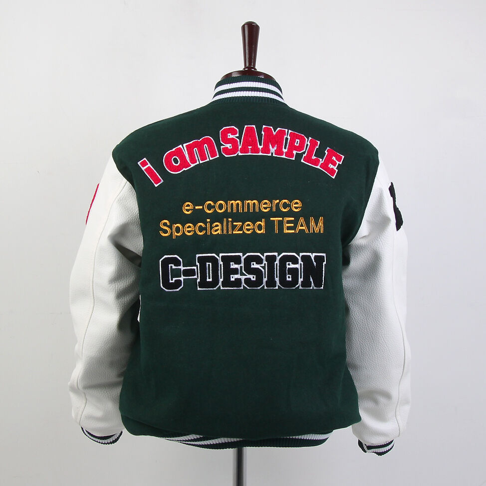 Customized personal chenille letter embroidery varsity