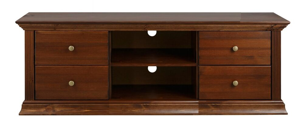tv lowboard kiefernholz kolonialfarben tv schrank tv m bel ebay. Black Bedroom Furniture Sets. Home Design Ideas