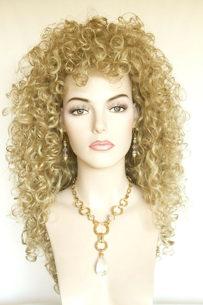 curly hair styles golden curly wigs ebay 8296