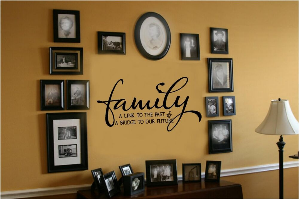 Family link to past bridge to future vinyl wall decal for The best of family decals for walls