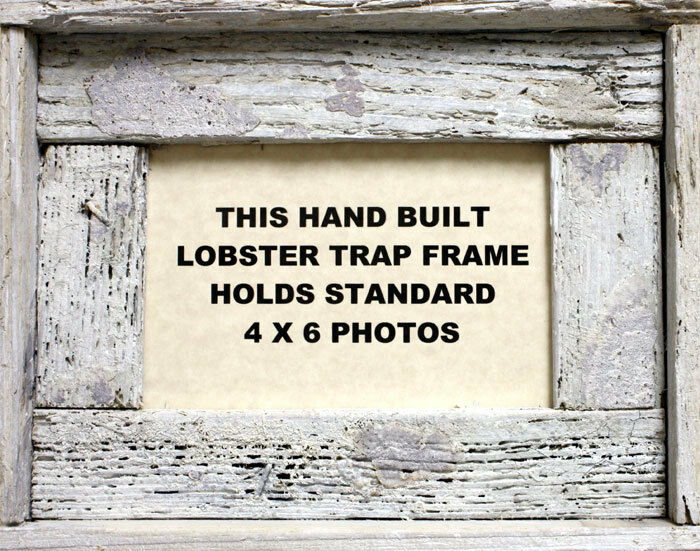 4 x 6 Lobster Trap White Wash Wood Horizontal Picture ...