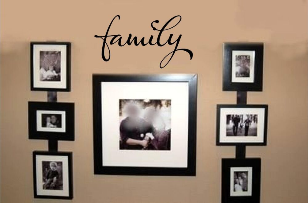 Wall Decor With Words : Family vinyl decal sticker wall lettering decor words