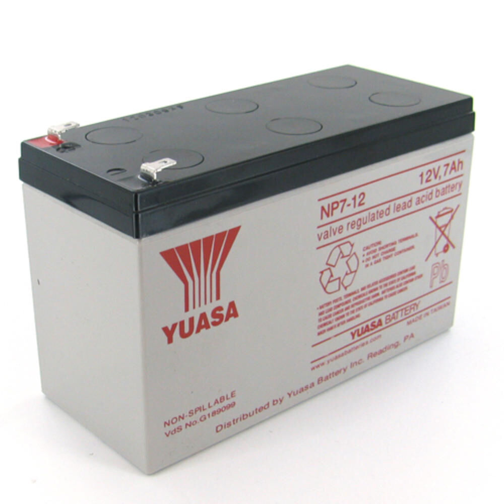 yuasa np7 12alt1 yuasa np7 12 12v 7ah battery ebay. Black Bedroom Furniture Sets. Home Design Ideas