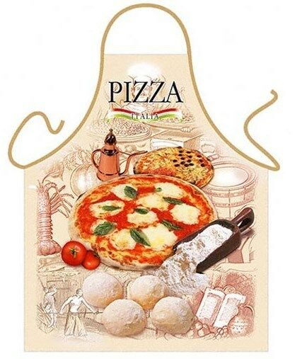 Pizza napoletana kitchen apron italian food cooking chef for Italian kitchen gifts